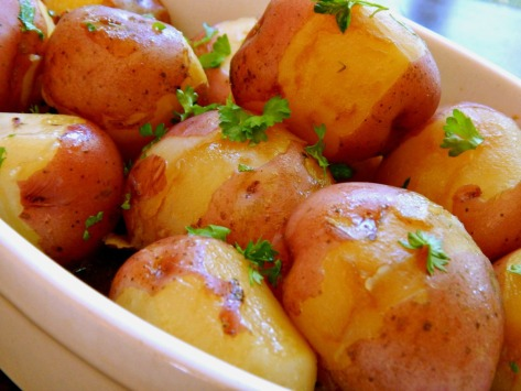 Baby Potatoes in Broth