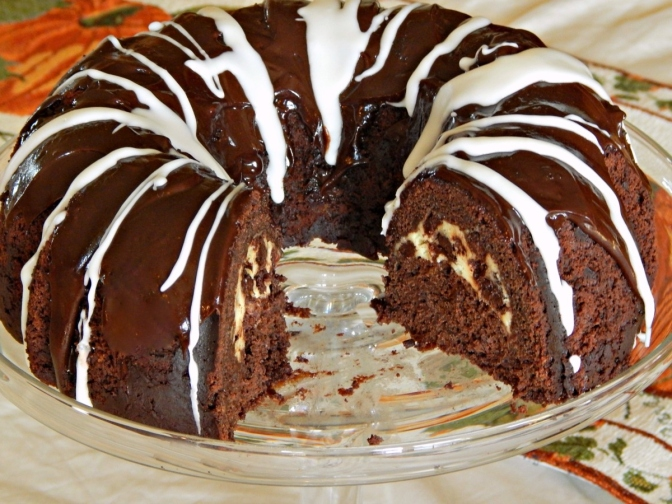 Chocolate Banana Bundt Cake with a Few Surprises!