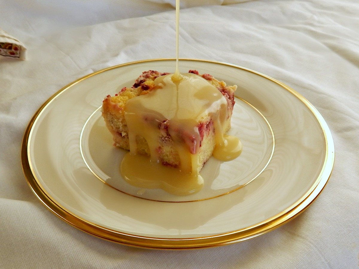 White Chocolate Raspberry Bread Pudding with Amaretto White ...