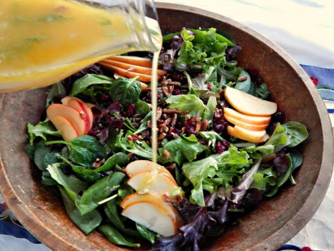 Harvest Wild Rice Salad with Citrus Dressing