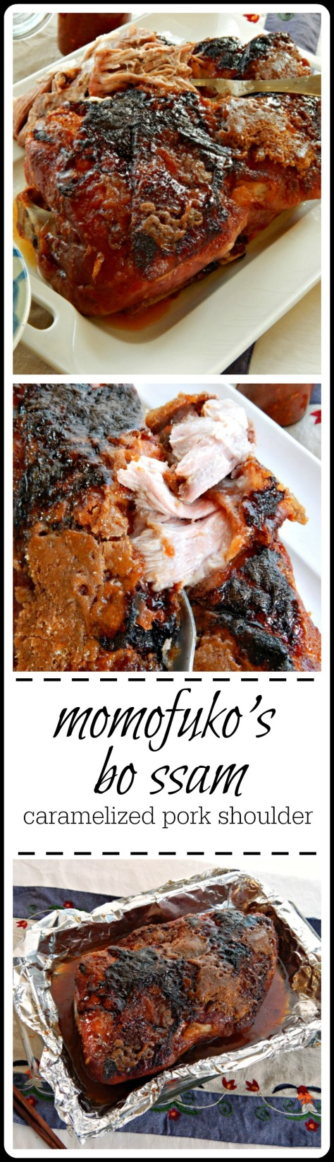 Chef Momofuko's Bo Ssam - caramelized pork shoulder for wraps = insanely good!!
