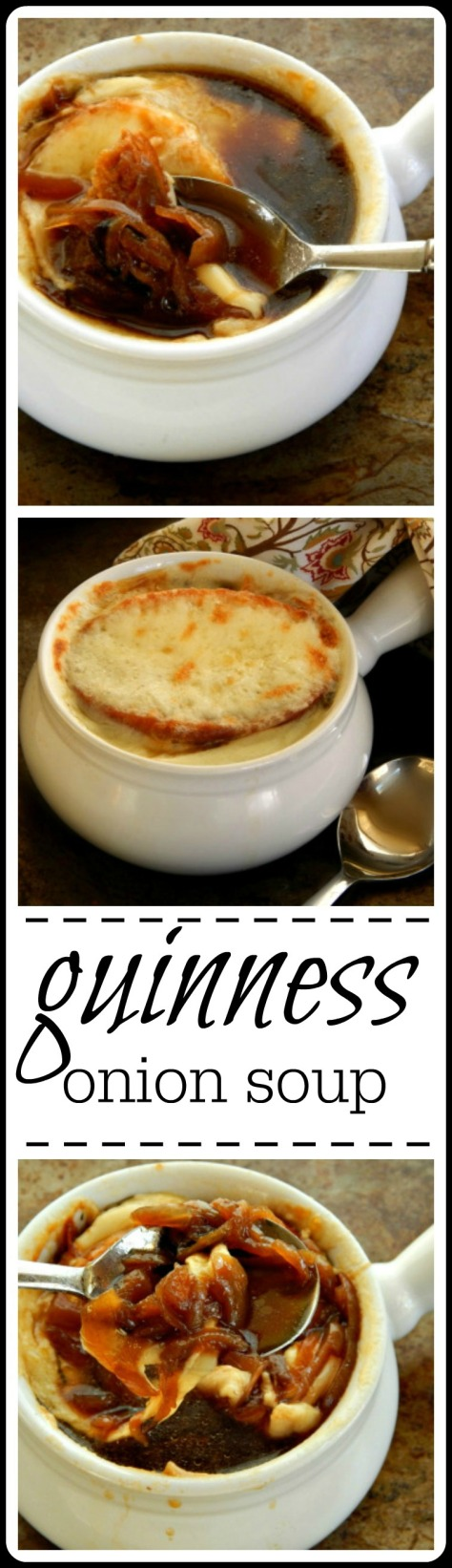 Guinness & Onion Soup with a Cheddar Crouton
