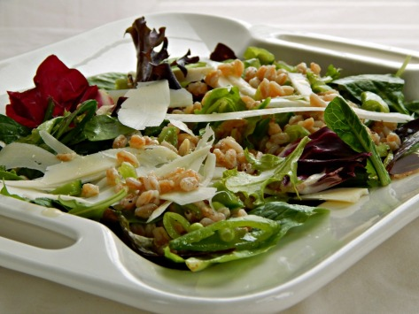 Spring Mix Salad with Lemony White Balsamic Dressing