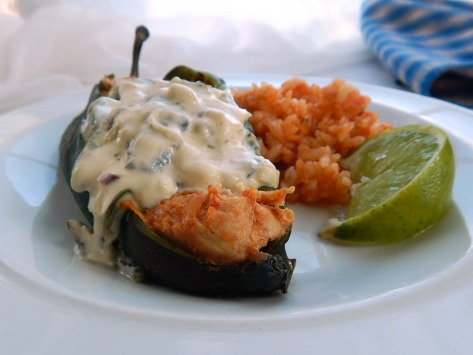 Chicken Stuffed Poblanos