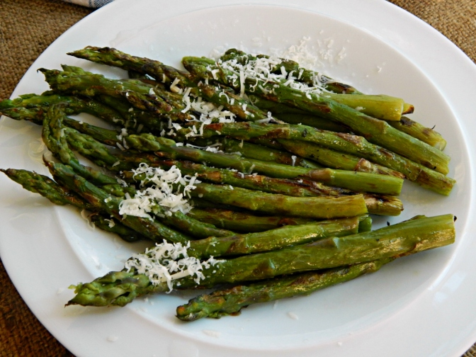 Grilled Asparagus with Lemon & Parmesan