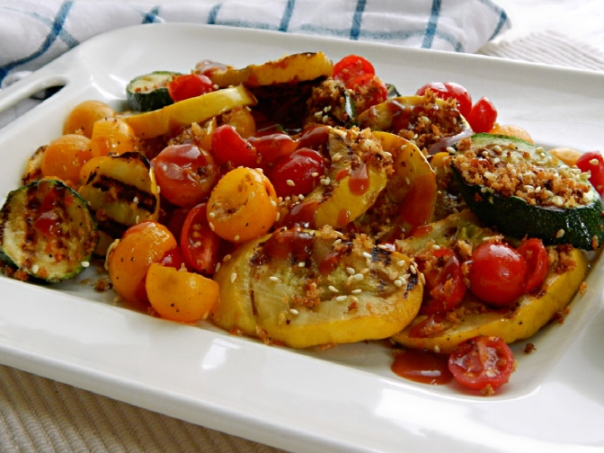 Grilled Vegetables with Tonkatsu Sauce