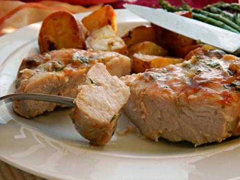 Herb Rubbed Beer Brined Pork Chops