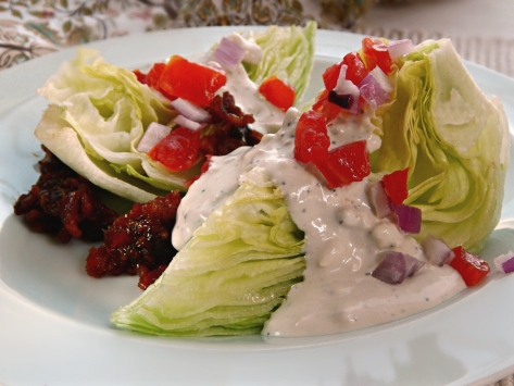 Bleu Cheese Dressing on Wedge Salad
