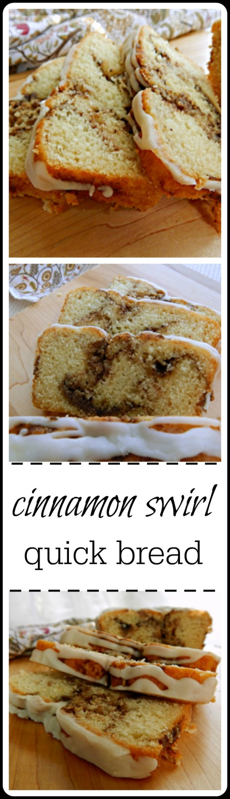 This Cinnamon Swirl Quick Bread has become a new fave at our house - maybe at yours, too?
