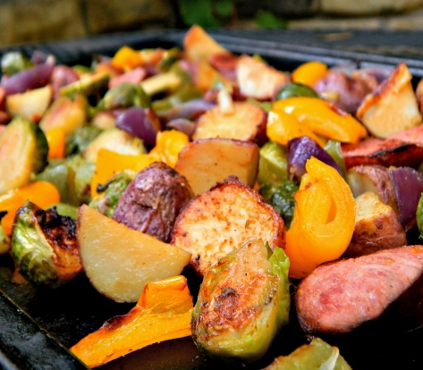 Sausage & Potato Sheet Tray Bake