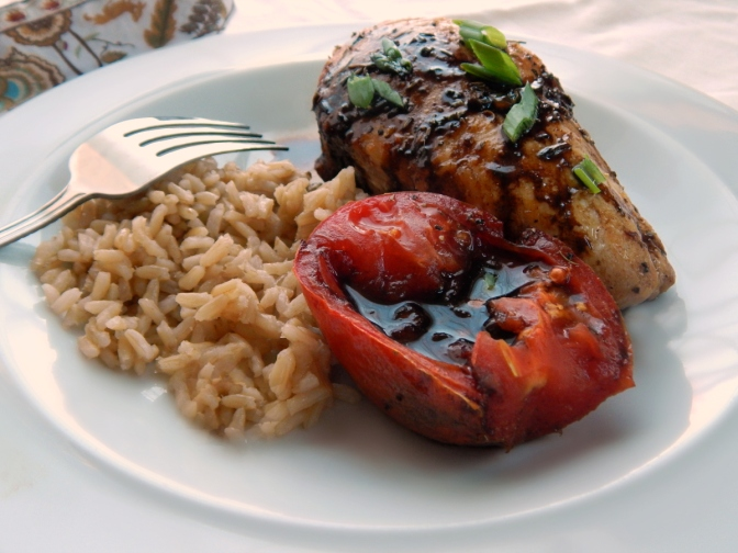 Balsamic Glazed Chicken & Tomatoes