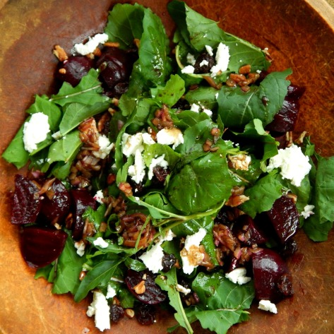 Arugula Beet & Goat Cheese Salad