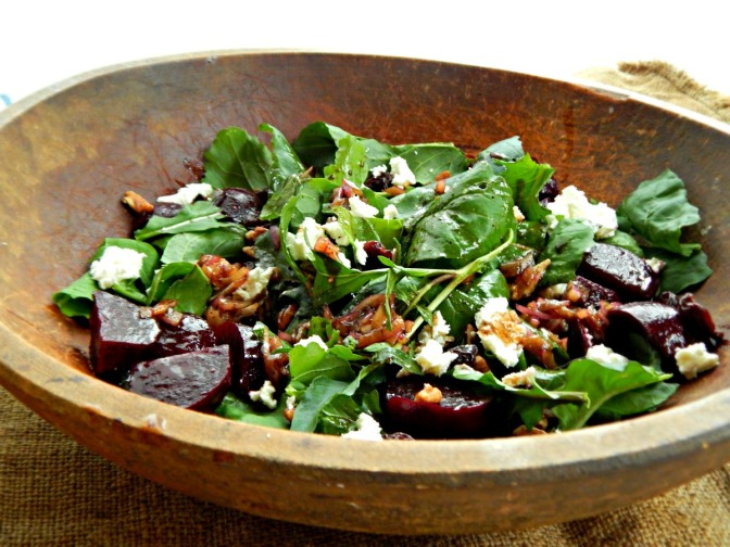 Arugula, Goat Cheese & Beet Salad