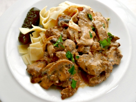 My Aunt Ginny's Beef Stroganoff - she brought the recipe back from Russia during the Cold war.