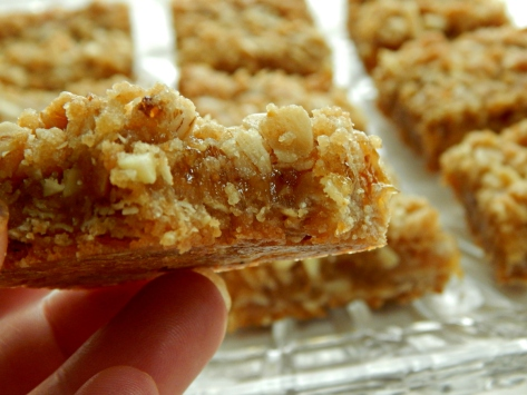 Brandied Fig Compote & Almond Oatmeal Bars