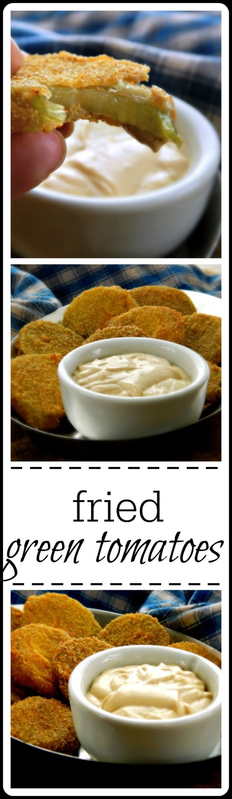 Fried Green Tomatoes with Spicy Remoulade Sauce