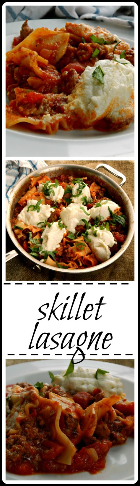 Skillet Lasagne - easy meal with all the taste of a real deal lasagne