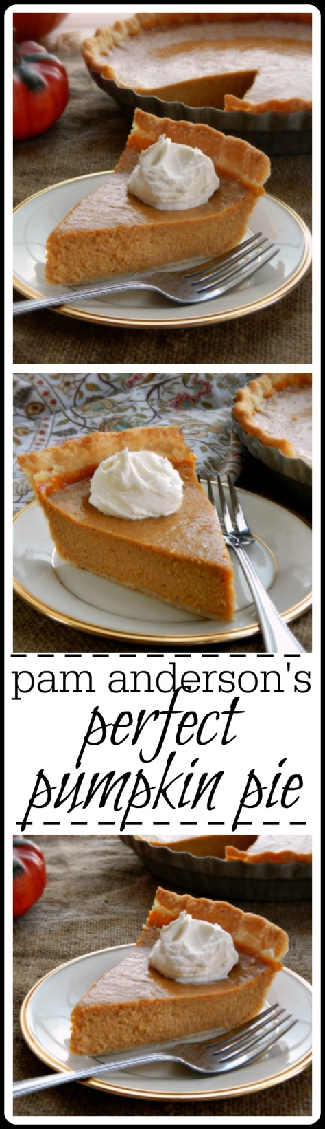 This pie by Pam Anderson (no not THAT Pam Anderson - is just gorgeous. Silky, beautiful and a fantastic blend of spices.