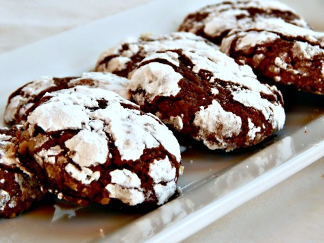 Cocoa Snowflakes or Cocoa Crinkles