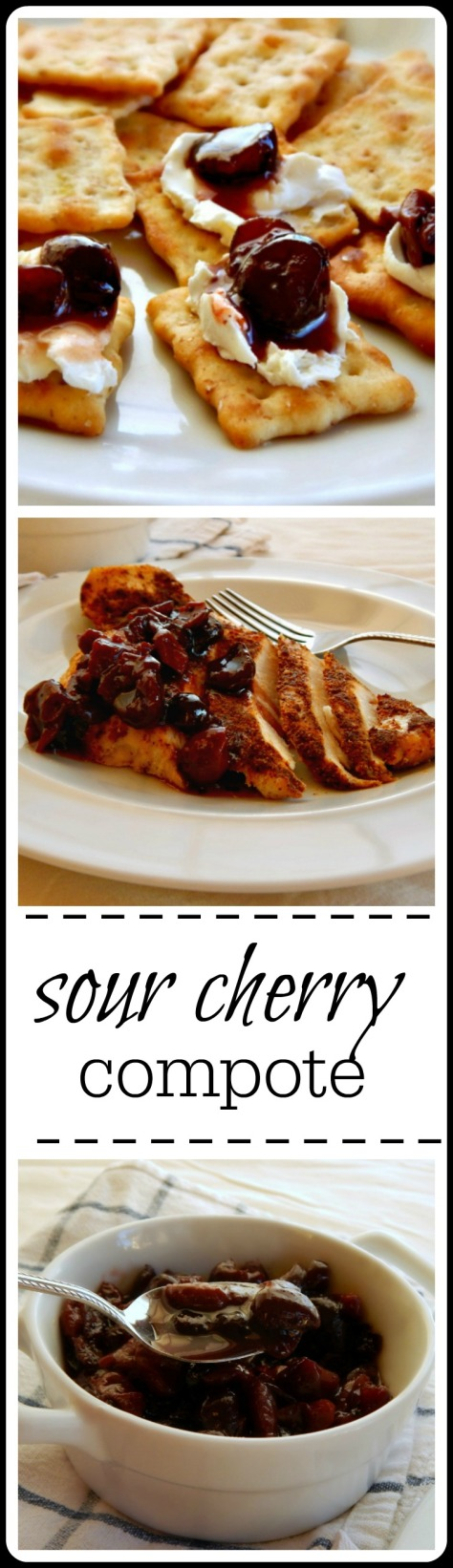 Sour Cherry Compote: Rides the line between sweet & savory and has so many uses!