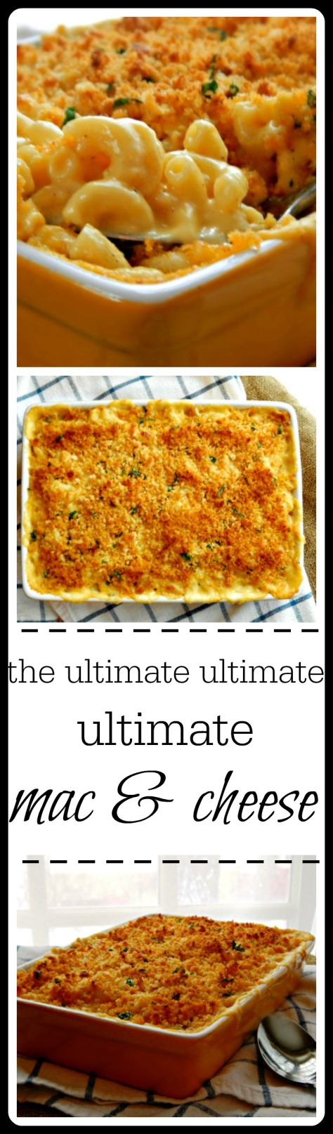 This really is the BEST Mac & Cheese I've ever made - no make that the BEST I've EVER eaten!! From the perfect texture of the macaroni, the creamy cheese and that killer bread crumb topping - it's all good!