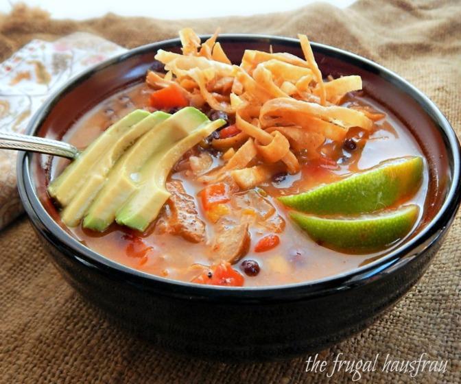 Chicken Tortilla Soup (or Turkey Tortilla Soup)