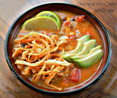 Chicken Tortilla Soup or Turkey Tortilla Soup