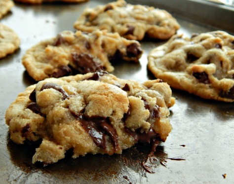 Bill's Chocolate Chip Cookies. Here the dough was refrigerated and they're softer and thicker, but still just as chewy..