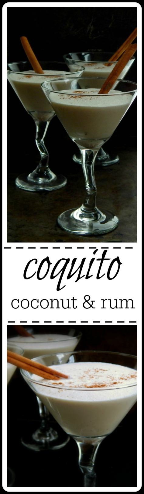Coquito - Easy Puerto Rican Coconut & Rum Cocktail - make ahead
