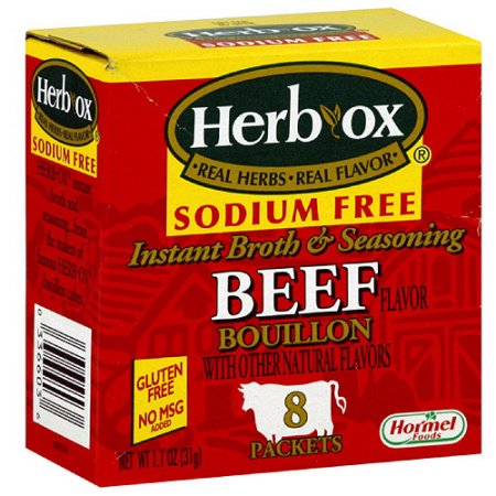 I chose a low sodium version for my mix, but there are less expensive broths available.