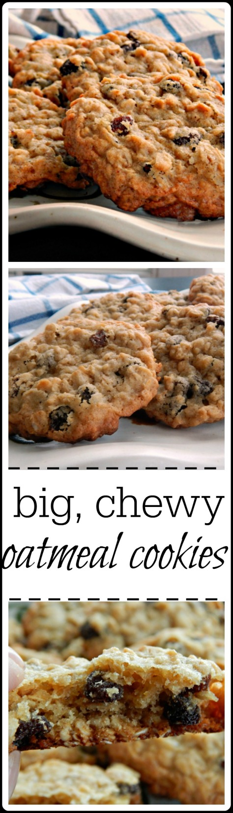 These are the perfect oatmeal cookies! Make them plain, with raisins, or why not chocolate?