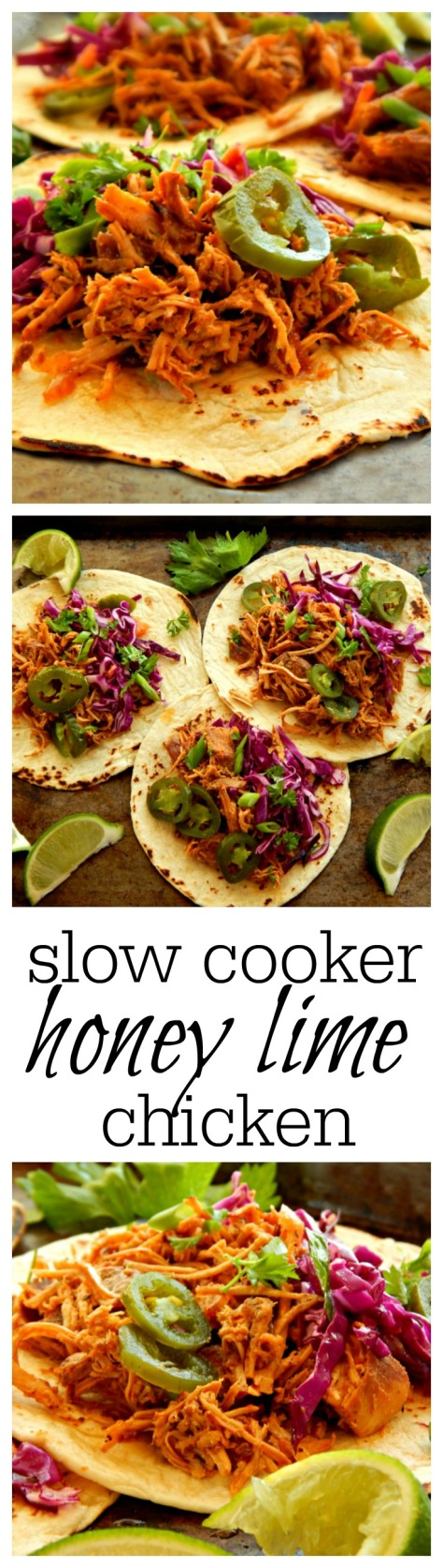 Slow Cooker Chicken with a Mexican Flair - you'll find a whole lot of ways of ways to use this luscious tangle of honey lime chicken.