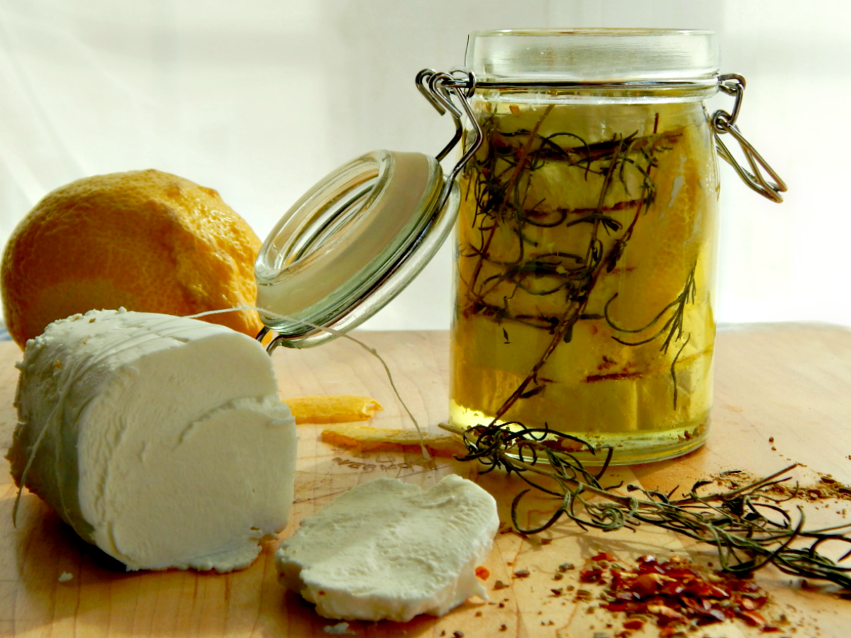 Marinated Goat Cheese | Frugal Hausfrau