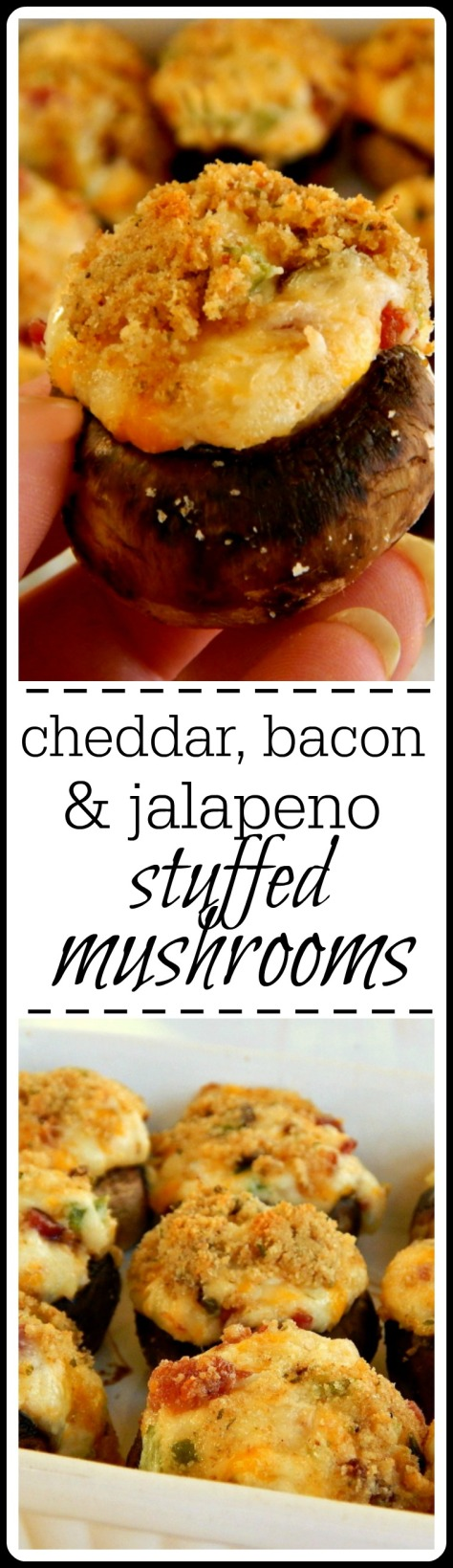 The best stuffed mushroom, ever! I mean, bacon! Creamy, cheesy and so much flavor.