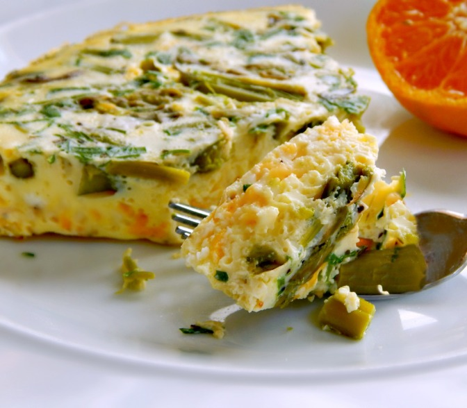 Asparagus & Chive Frittata – Instant Pot Recipe