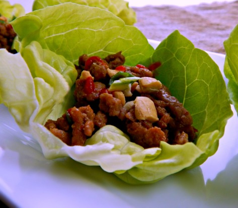Asian Turkey (or Chicken) Lettuce Wraps