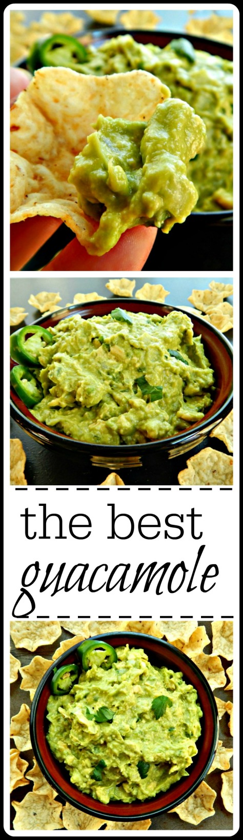 An absolute classic - the best guacamole, ever!