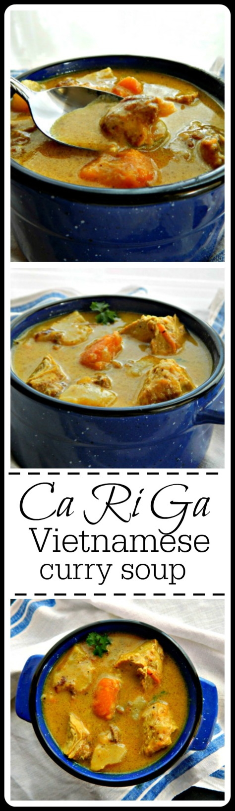 Ca Ri Ga - a simple and stunning Vietnamese Curry. Downhome cooking at it's best! You'll want to sop it up with a baguette!