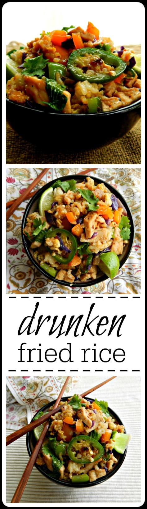 Drunken Fried Rice - Yes there IS such a thing and thank goodness because it's amazing! Just like drunken noodles but use leftover rice.