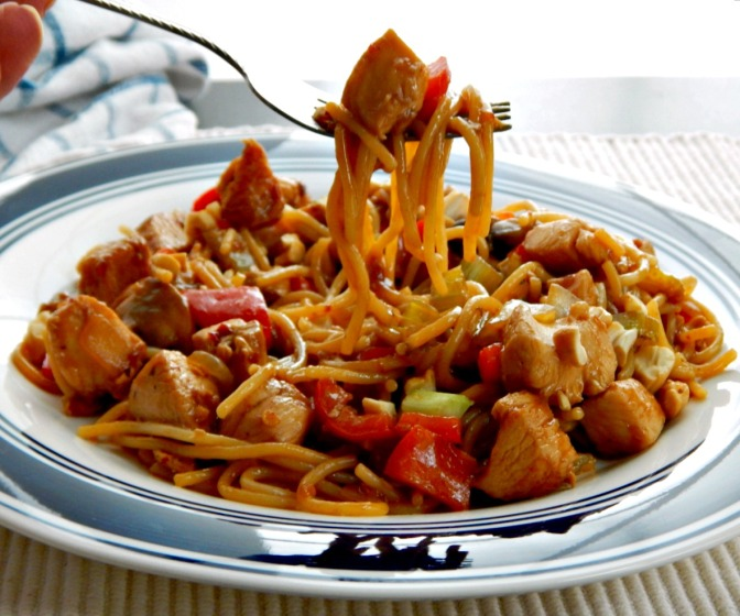 Kung Pao Chicken with Noodles