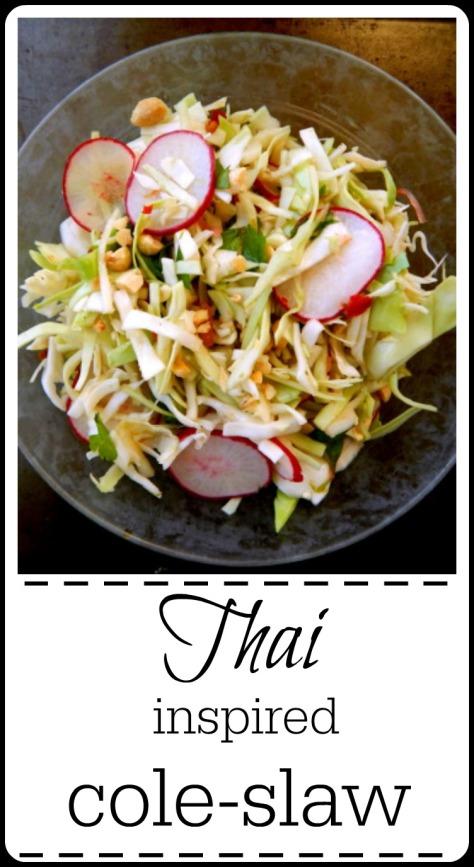 Thai cole-slaw cabbage salad