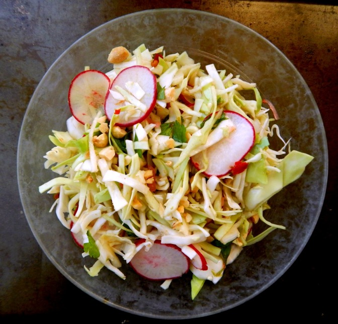 Thai Inspired Cabbage Salad