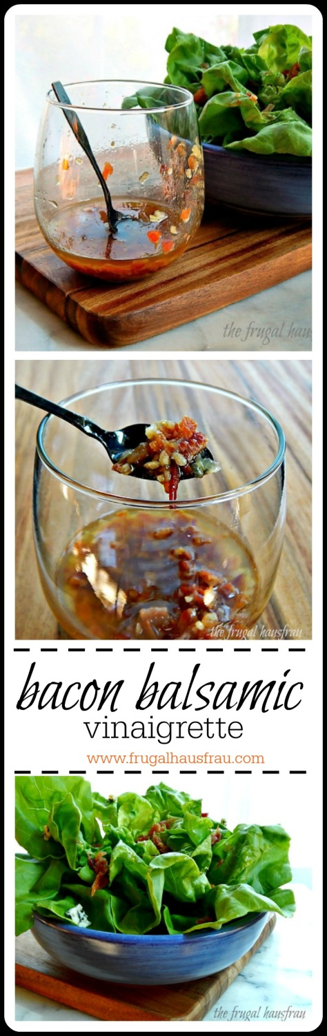 Bacon Balsamic Vinaigrette from the famed Magnolia Grill. Perfect for summer or fall (or anytime!) Easy, too.
