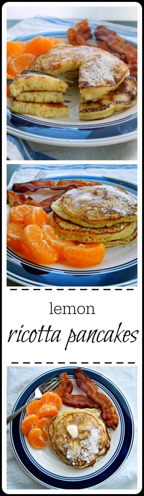Lemon Ricotta Pancakes: Light, rich & airy all at the same time. There's just a hint of lemon but orange or vanilla is great, too.