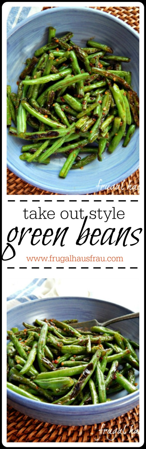 Take Out Style Green Beans: these blistered beans are caramelized deliciousness.