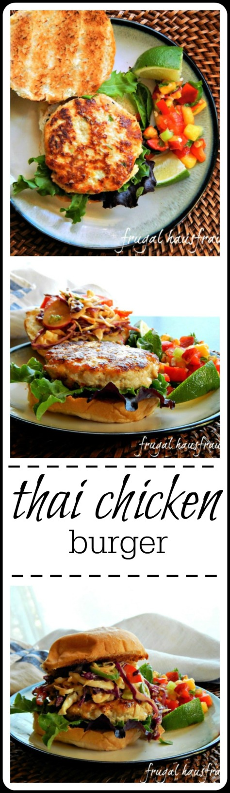 These Thai Chicken Burgers have a secret that keep them moist!  Yeah, that's a teaser - click to see the whole recipe.