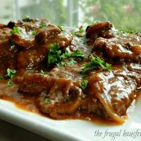 Swiss Steak with Mushroom Gravy - Instant Pot