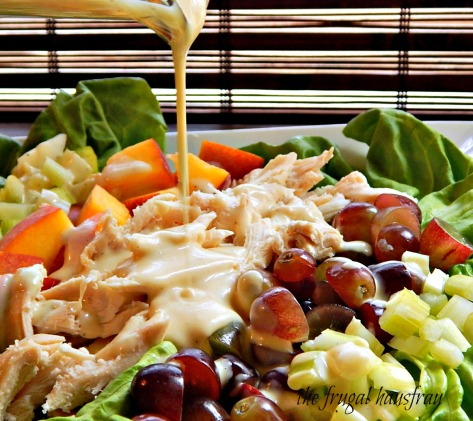 Chicken Salad honey dijon dressing fruit