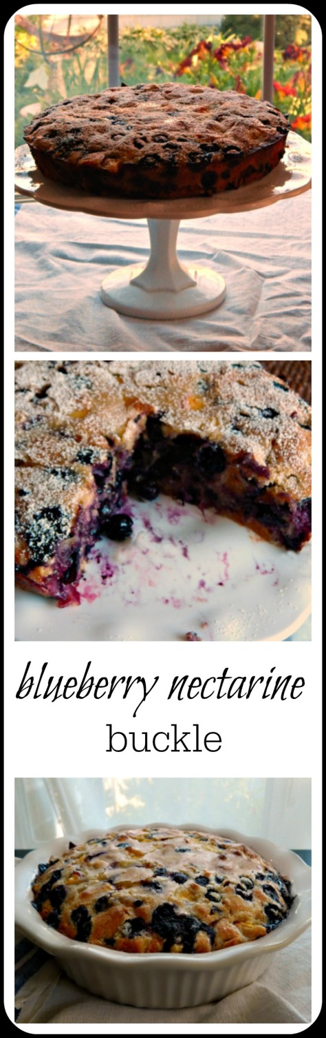 Easy dessert featuring blueberries (or other fruit). It's a beautiful thing, loaded with blueberries and simply fabulous.