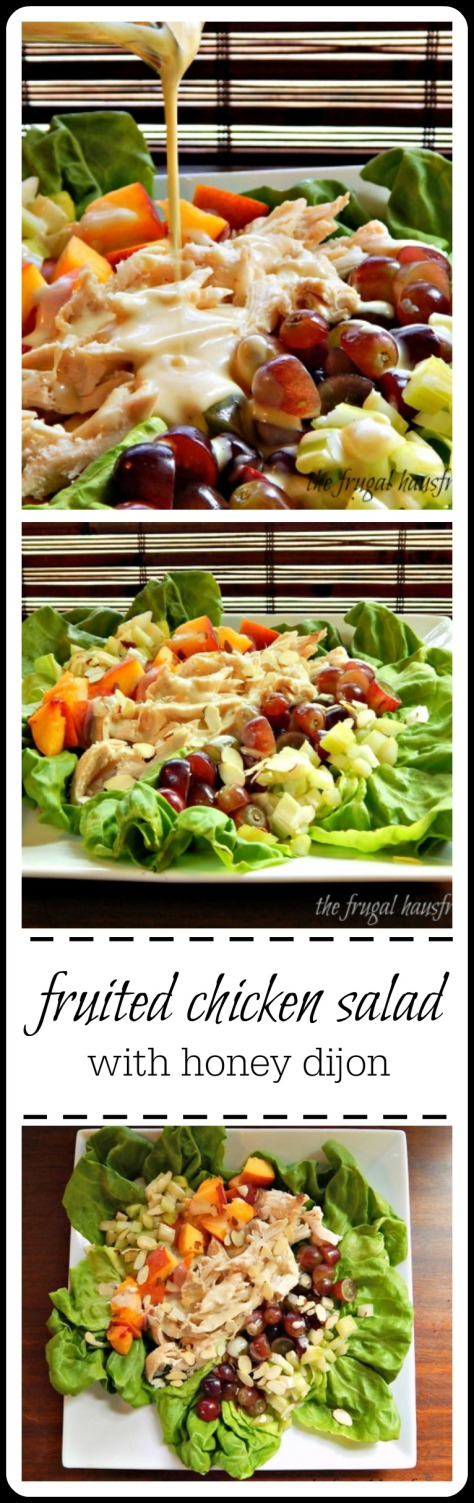 fruited chicken salad with honey dijon by the frugal hausfrau